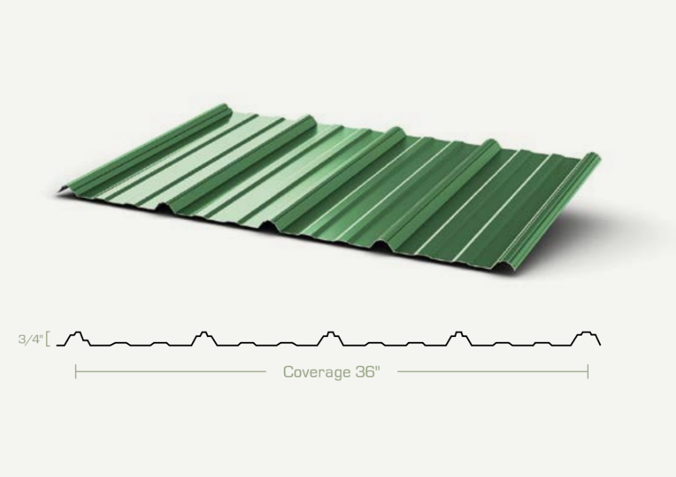 Metal Roofing - Jackson Rib Panels